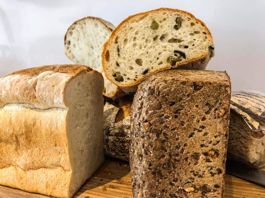 Selection of freshly made bread