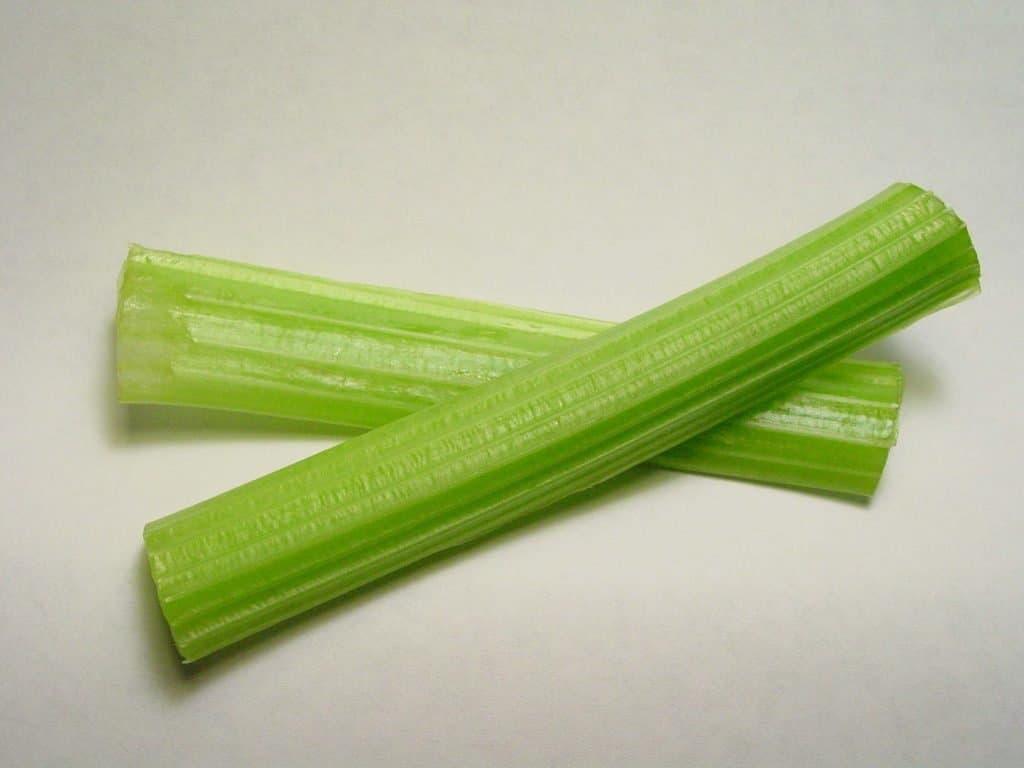 Two celery sticks