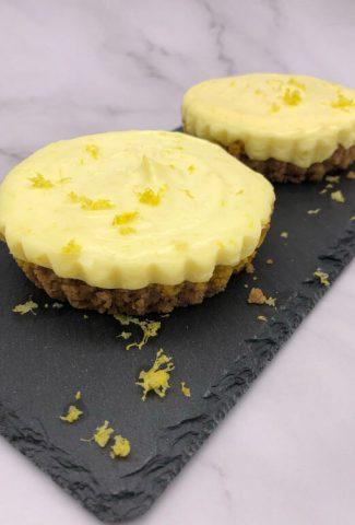 Tasty and easy lemon flan ready for eating