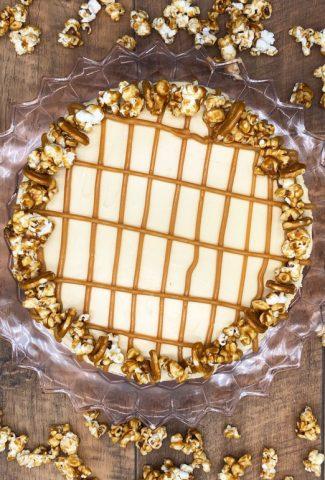 Amazing tasty homemade salted caramel cheesecake