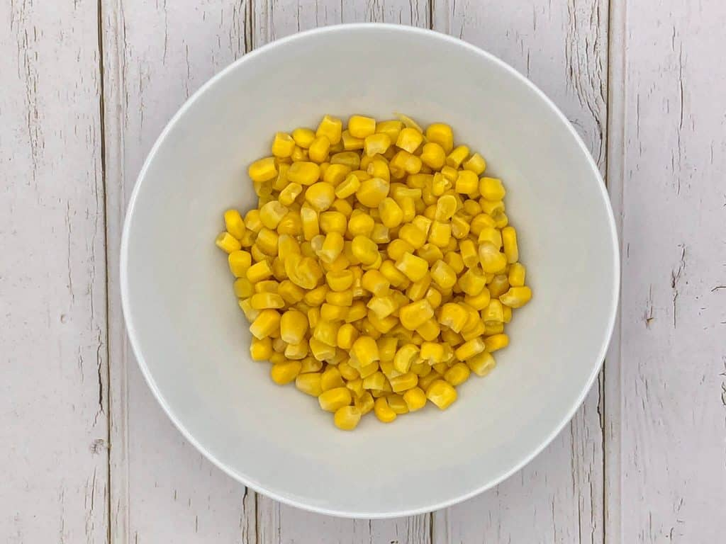 Sweetcorn in a white bowl