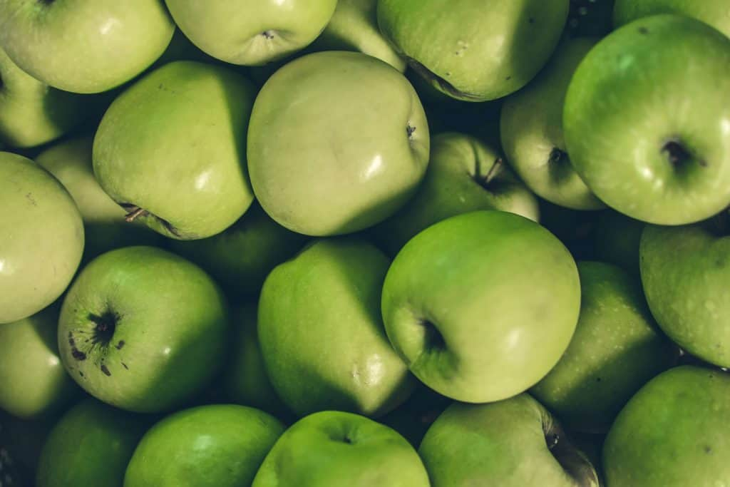 Lots of green apples