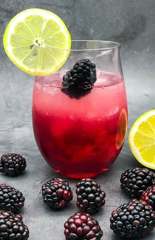Ready to drink homemade Bramble cocktail