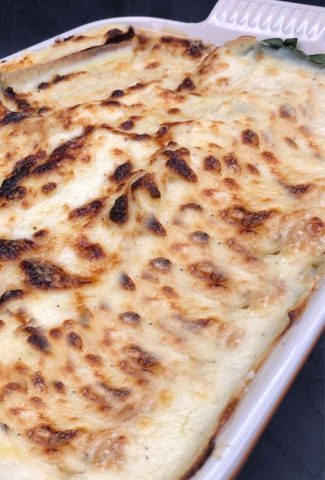 Lasagne with a lovely cheese topping