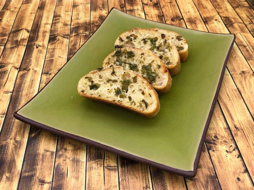 Homemade garlic bread fresh out of the oven
