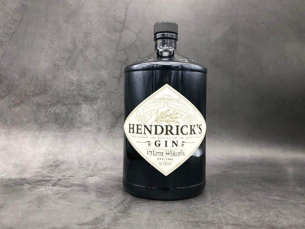 A bottle of Hendricks gin