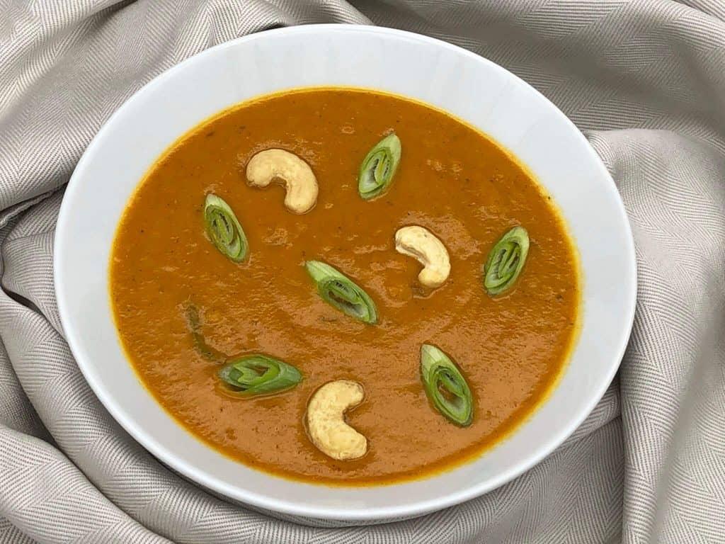 Freshly made Indian mulligatawny soup