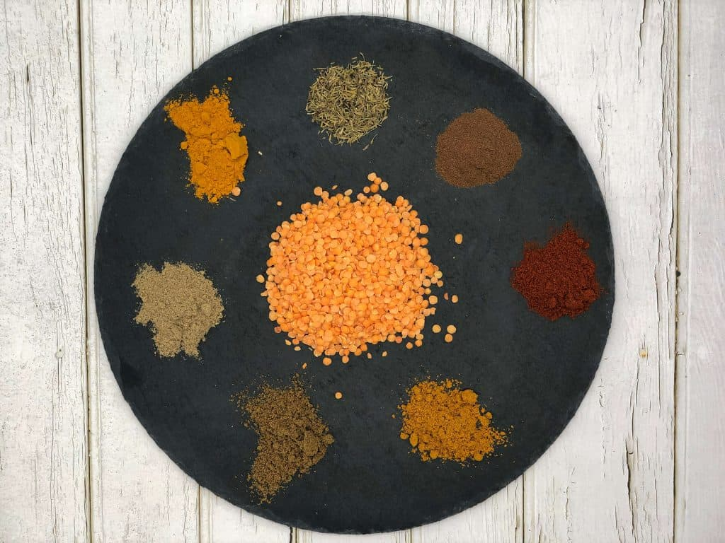 Mulligatawny soup spices and lentil