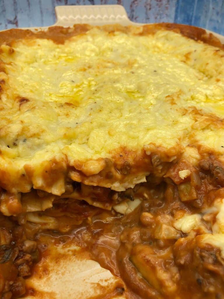 Vegetable lasagne layers