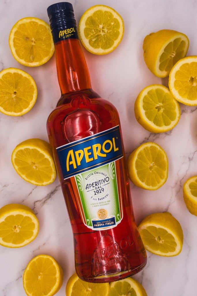 Aperol and citrus fruits