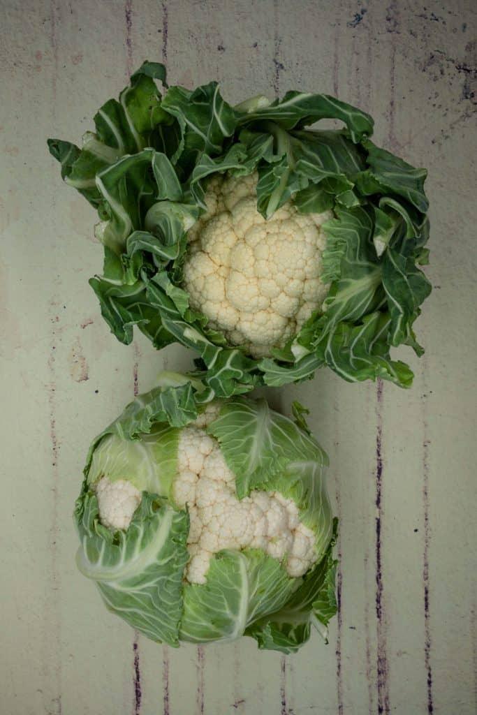 Two fresh cauliflowers