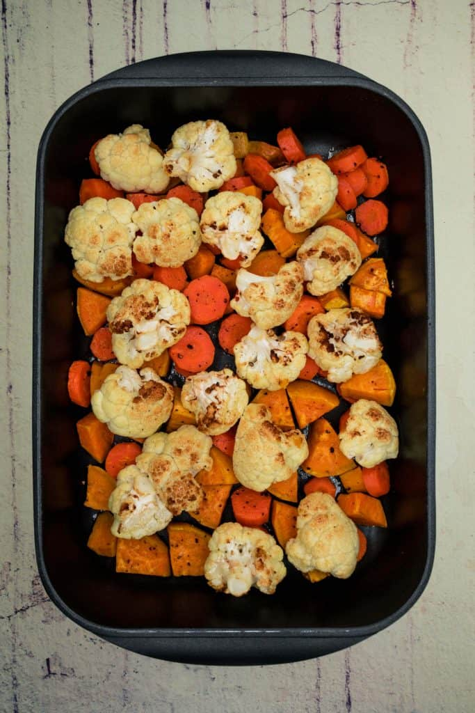 Roasted veg fresh out of the oven