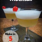 Whiskey sour mocktail pin for pinterest