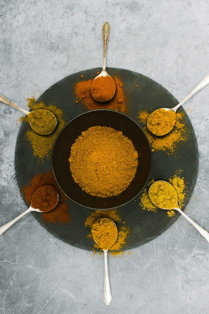 Indian curry spices mixed together
