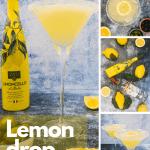 Limoncello martini pinterest image