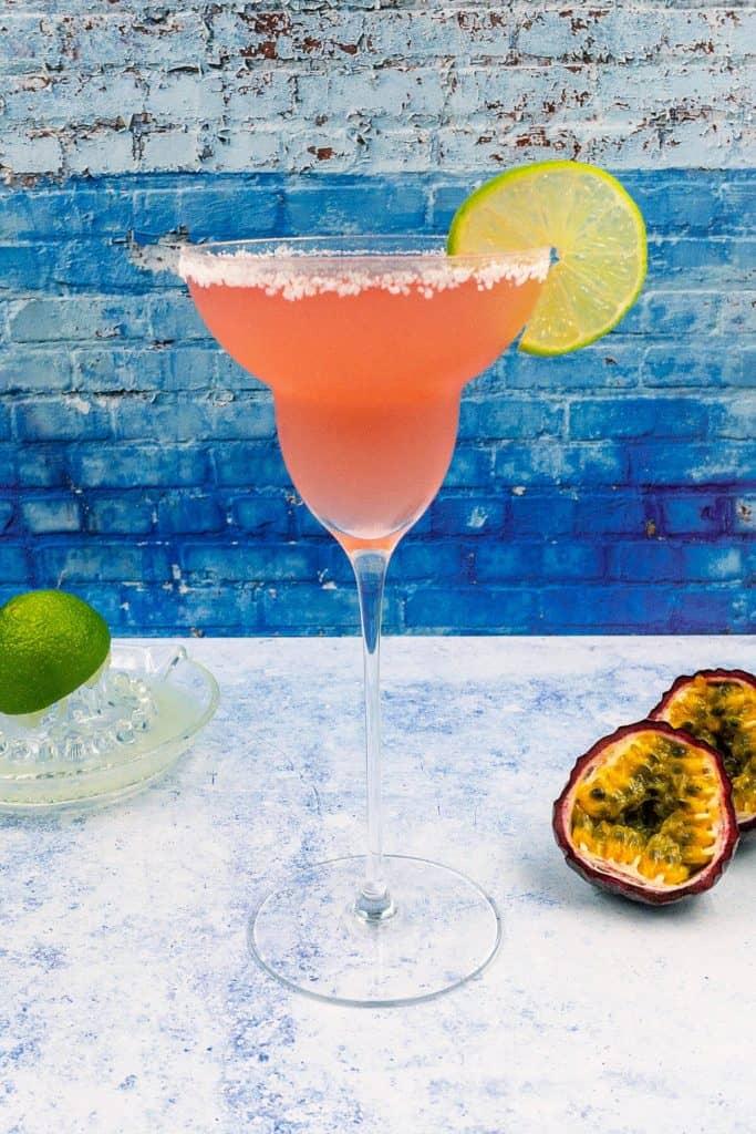 Summer passion fruit margarita drink