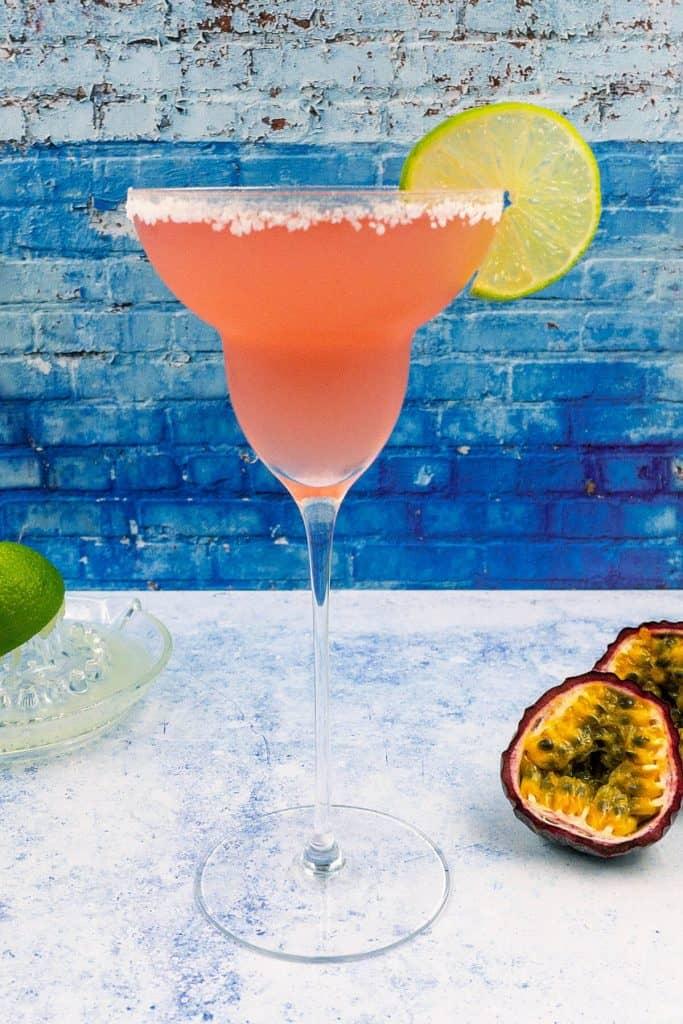 Summer passion fruit margarita delicious cocktail