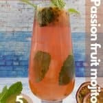 Passion fruit mojito for pinterest