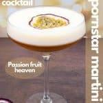 Easy Pornstar Martini Cocktail Recipe for pinterest
