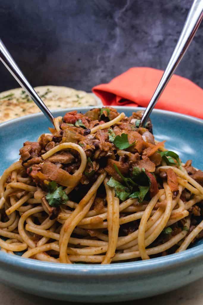Meat free spaghetti bolognese