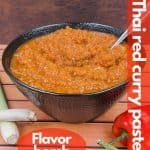 Thai Red curry paste for pinterest