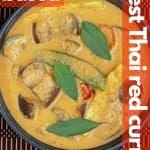 Vegan Thai red curry for pinterest