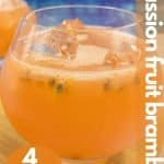 Passion fruit gin cocktail image for pinterest