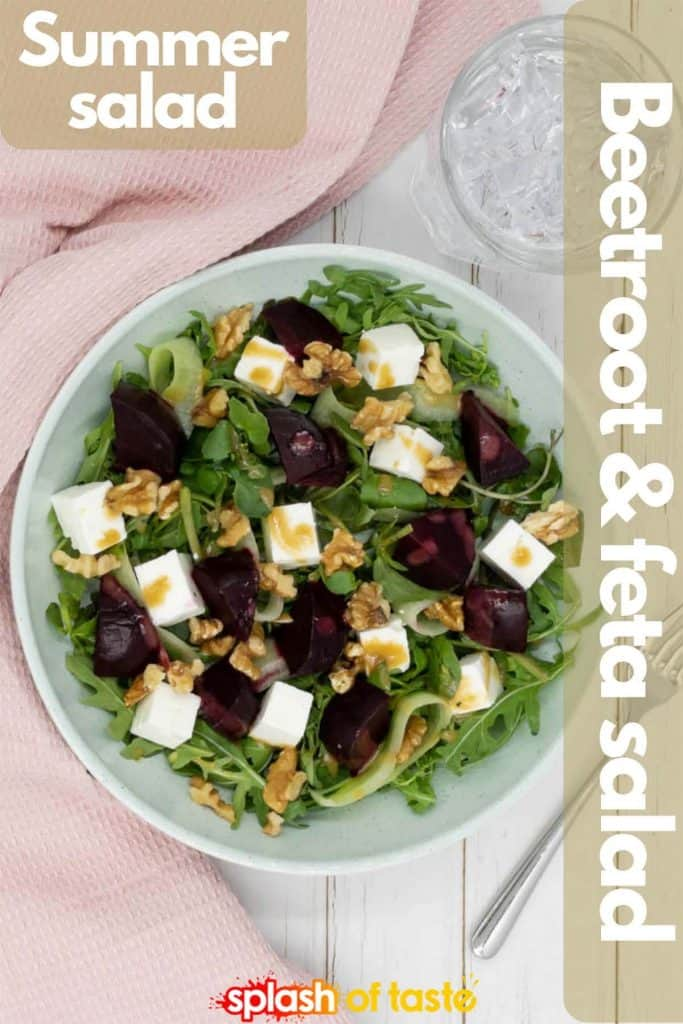 Beetroot and feta cheese salad for Pinterest