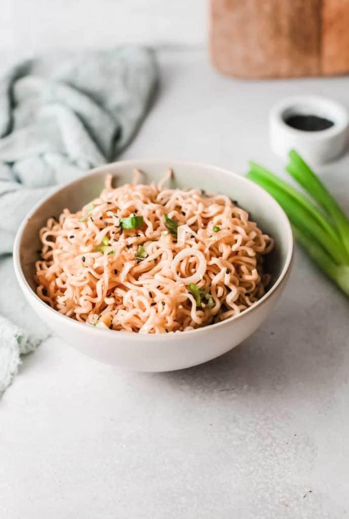 A bowl of cheap lazy vegan ramen.