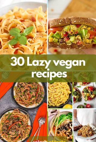 Lazy vegan recipes featured image
