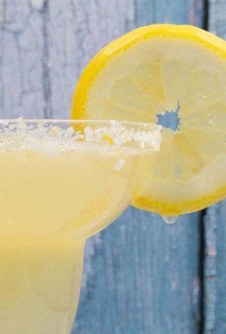 Homemade lemon margarita cocktail
