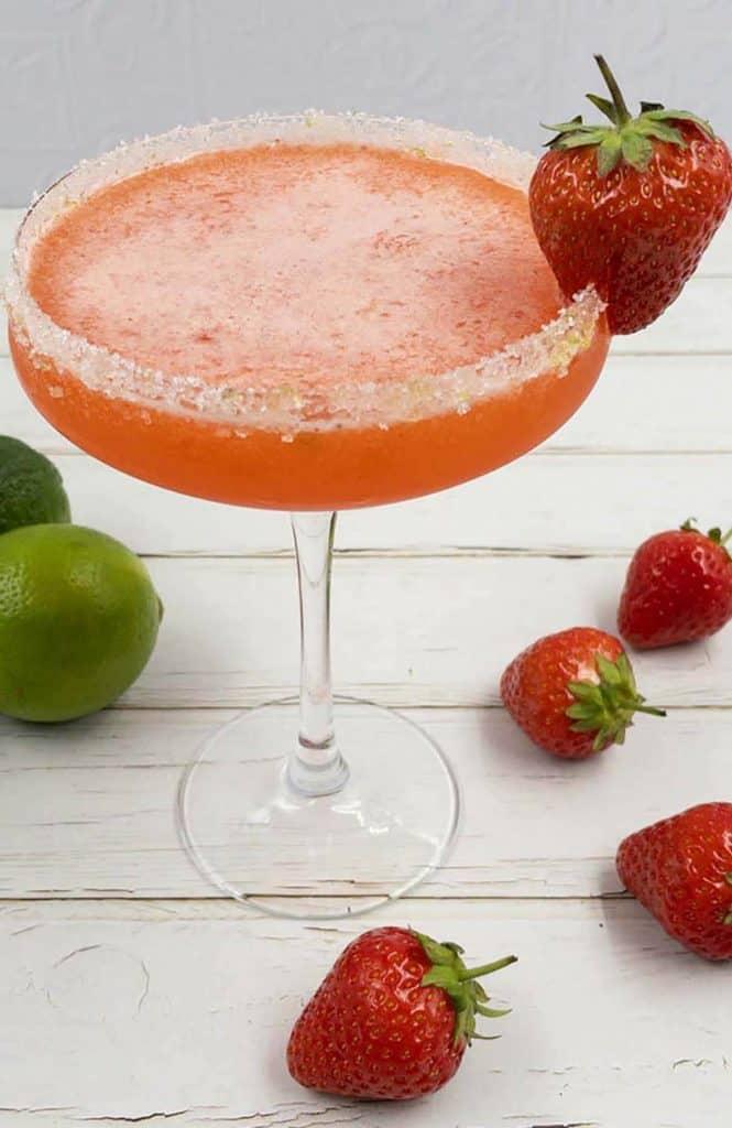 Delicious strawberry daiquiri cocktail.