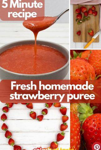 How to make strawberry puree.