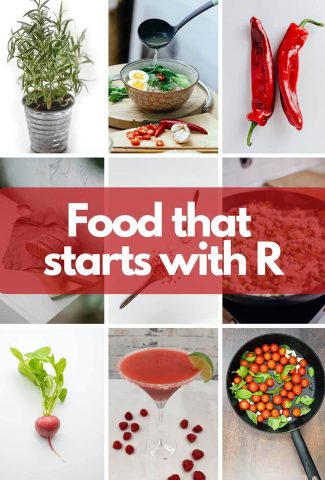 Foods that start with r image.