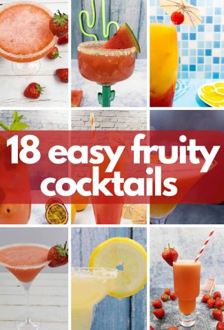 Easy fruity cocktail drinks image for pinterest.