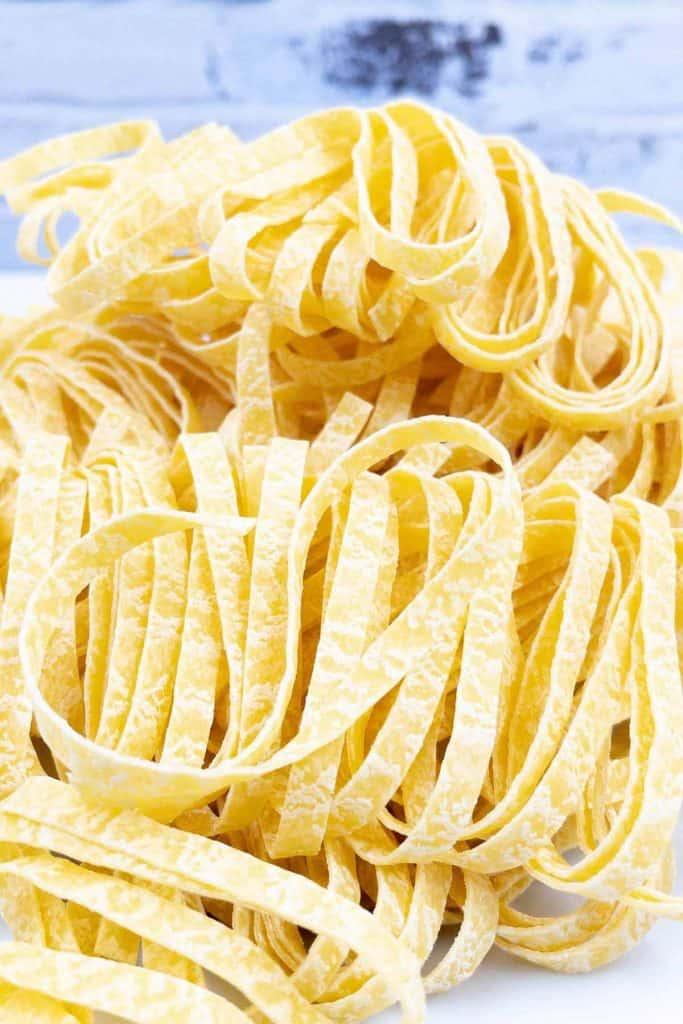 Tagliatelle pasta.