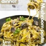 Mushroom pasta for pintrest.