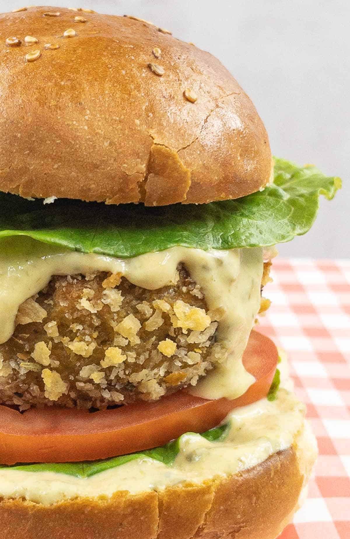 Vegan chicken burger,