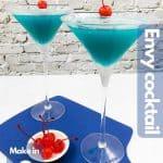 Two envy blue drinks for Pinterest.