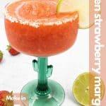 Frozen strawberry margarita image for Pinterest.
