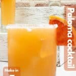 Paloma cocktail image for Pinterest.