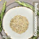 Homemade Italian seasoning image for Pinterest.