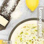Lemon pasta image for Pinterest.